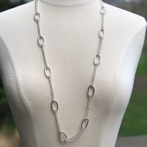 """Jewelry - Silver chain link necklace 34"""" in length"""